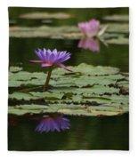 Purple Blossoms Floating Fleece Blanket