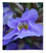 Purple Bokeh Fleece Blanket