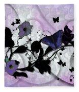 Purple Butterflies Fleece Blanket