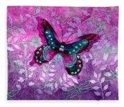 Purple Butterfly Fleece Blanket
