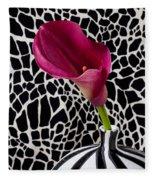 Purple Calla Lily Fleece Blanket