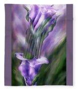 Purple Callas In Calla Vase Fleece Blanket