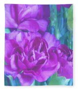 Purple Carnations Fleece Blanket