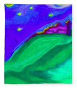 Purple Castle By Jrr Fleece Blanket