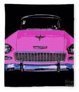 Purple Chevy Pop Art Fleece Blanket