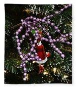 Purple Christmas Fleece Blanket