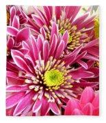 Purple Chrysanthemum Fleece Blanket