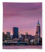 Purple City Fleece Blanket