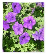 Petunias Purple Club Fleece Blanket