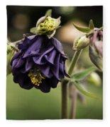 Purple Columbine Fleece Blanket