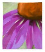 Purple Cone Fleece Blanket