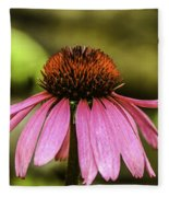 Purple Coneflower - Single Fleece Blanket
