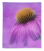 Purple Coneflower - Echinacea Purpura Fleece Blanket