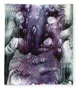 Purple Coral2 Fleece Blanket