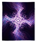 Purple Cross Fleece Blanket