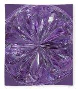 Purple Crystal Gem Fleece Blanket