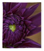 Purple Dahlia Fleece Blanket