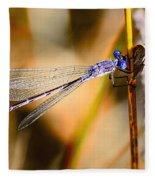 Purple Dragonfly Fleece Blanket