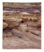 Purple Earth Fleece Blanket