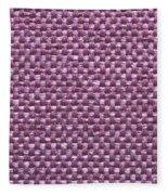 Purple Fabric Fleece Blanket