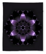 Purple Fantasy Flower Fleece Blanket