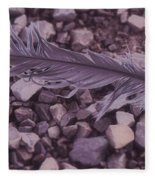 Purple Feather Fleece Blanket