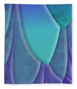 Purple Feathers Fleece Blanket