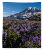 Purple Fields Forever And Ever Fleece Blanket