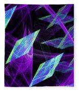 Purple Floating Diamonds Fleece Blanket
