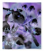 Purple Flower Abstract  2 Fleece Blanket