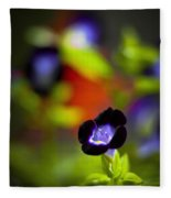 Purple Flower Fleece Blanket