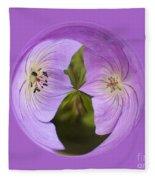 Purple Flower Orb Fleece Blanket