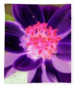 Purple Flower - Photopower 257 Fleece Blanket