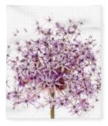 Purple Flowering Onion Fleece Blanket