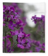 Purple Flowers Fleece Blanket
