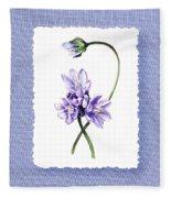Purple Flowers Serenade Botanical Impressionism Fleece Blanket