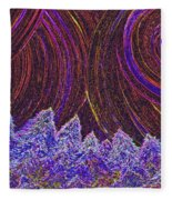 Purple Forest Moon Fleece Blanket