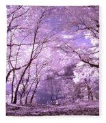 Purple Forest Fleece Blanket