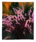 Purple Fountain Grass Fantasy Fleece Blanket