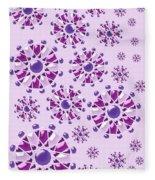 Purple Gems Fleece Blanket