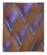 Purple Geometry - Abstract Fleece Blanket