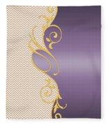 Purple Gold Chevron Fleece Blanket