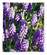 Purple Grape Hyacinth  Fleece Blanket