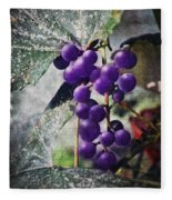 Purple Grapes - Oil Effect Fleece Blanket
