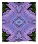 Purple Hydrangea Flower Abstract 2 Fleece Blanket