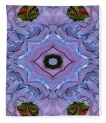 Purple Hydrangea Flower Abstract Fleece Blanket