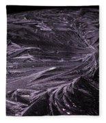 Purple Ice Fleece Blanket