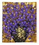 Purple In The Warm Glow Fleece Blanket