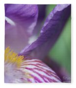 Purple Iris 1 Fleece Blanket