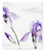 Purple Iris Glow Fleece Blanket
